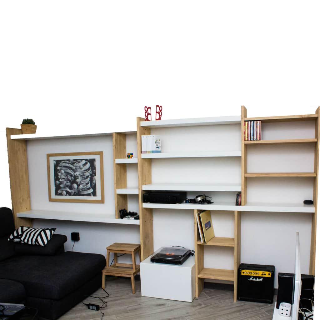 Mensole In Legno Ikea libreria in legno e mensole ikea lack